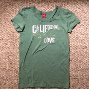 Green Hollister tee shirt